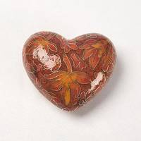 Autumn Leaves Cloisonné Heart