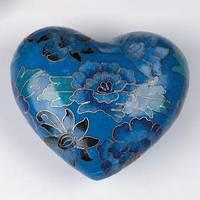 Blue Sapphire Cloisonné Heart