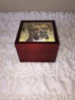Custom Red Wood Urn
