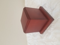 Cherry stained cube