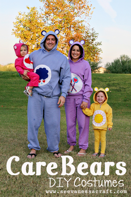 DIY Kids & Family Carebear Halloween Costumes