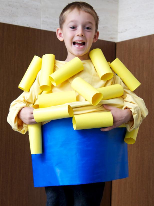 DIY Kids Mac and Cheese Halloween Costume