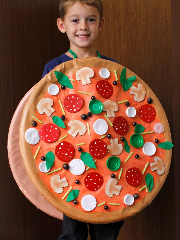 DIY Kids Pizza Halloween Costume