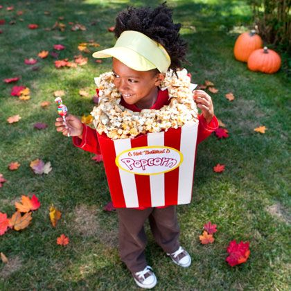 DIY Kids Popcorn Halloween Costume