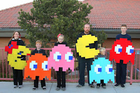 DIY Kids Pac-Man Halloween Costumes