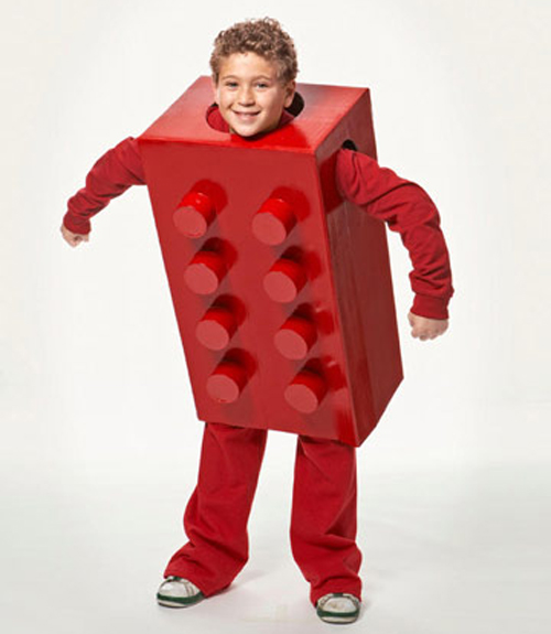 DIY Kids Lego Halloween Costume
