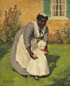 Black Nanny and White Child 1912 art by Lee Greene Richards