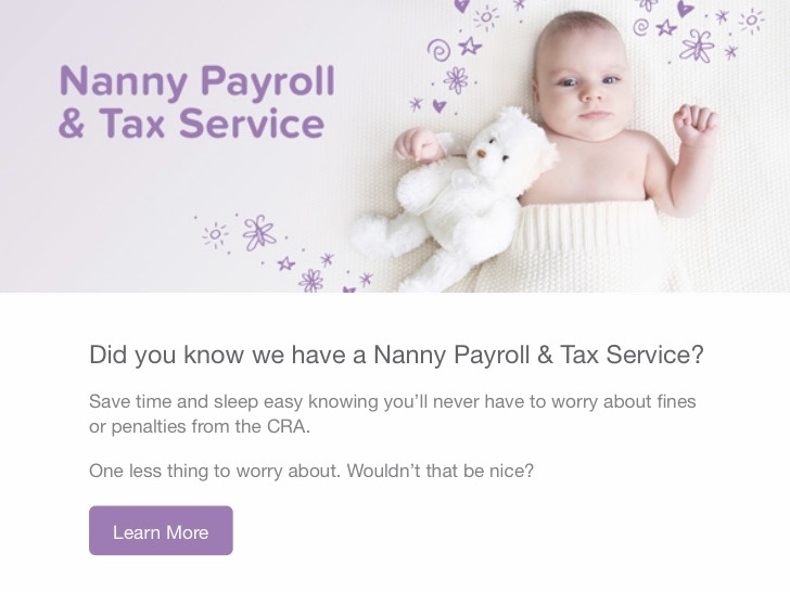 Canadian Nanny Payroll and Tax Service powered by Heartpayroll