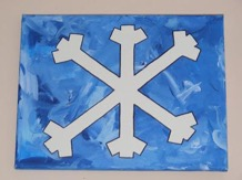 snowflake kids craft