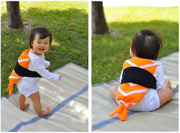 DIY Toddler Sushi Halloween Costume