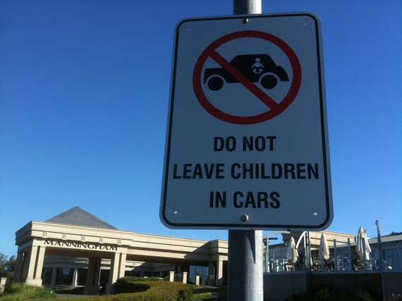 Do Not Leave Children Alone in Cars