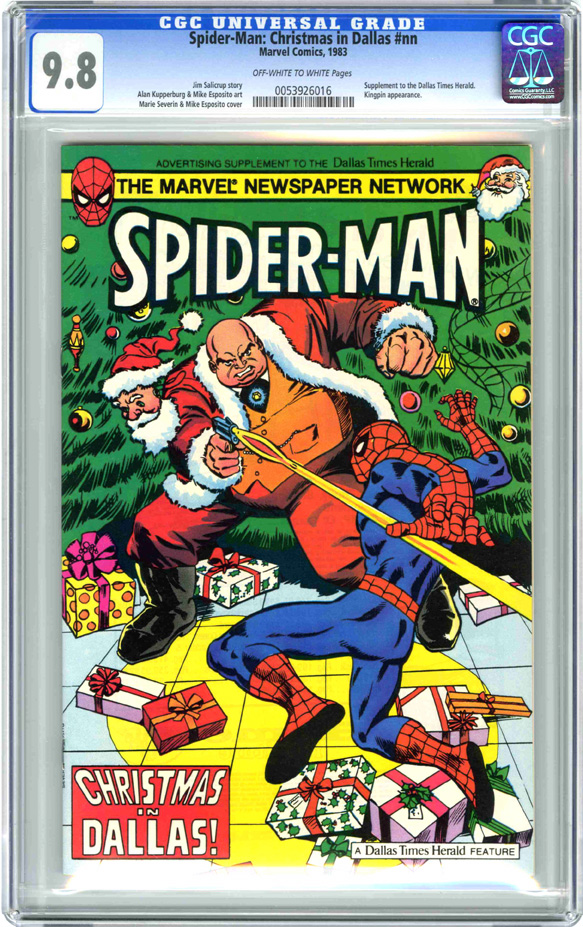 Spiderman Christmas.Spider Man Christmas In Dallas Nn Comic Book Gallery Image