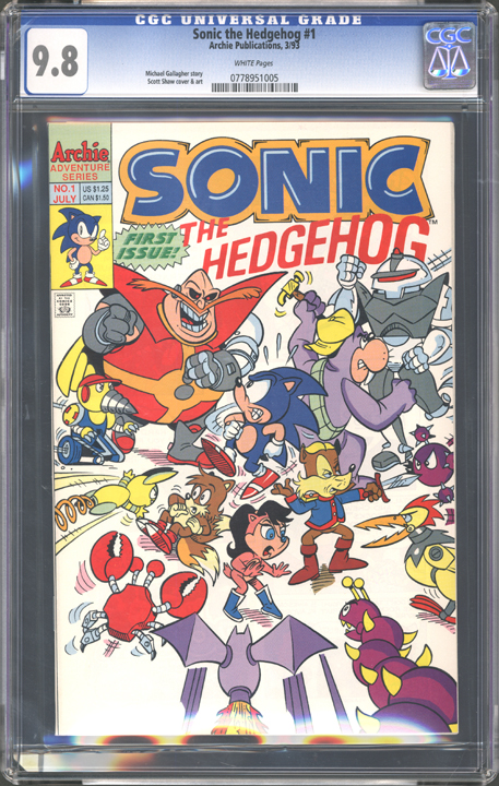 Sonic The Hedgehog 1 Comic Book Gallery Image