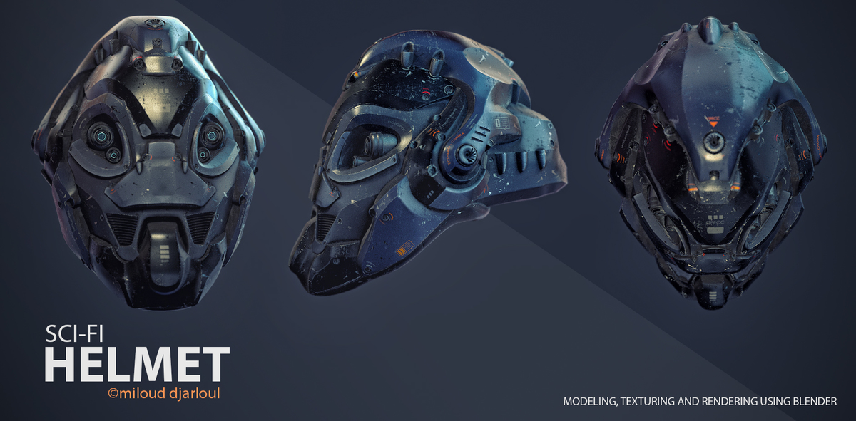 Sci-Fi Helmet Showcase - CG Cookie