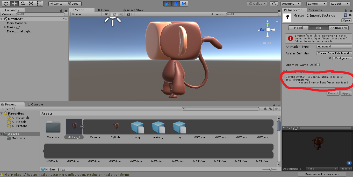 Need help with Rig in Unity! - CG Cookie