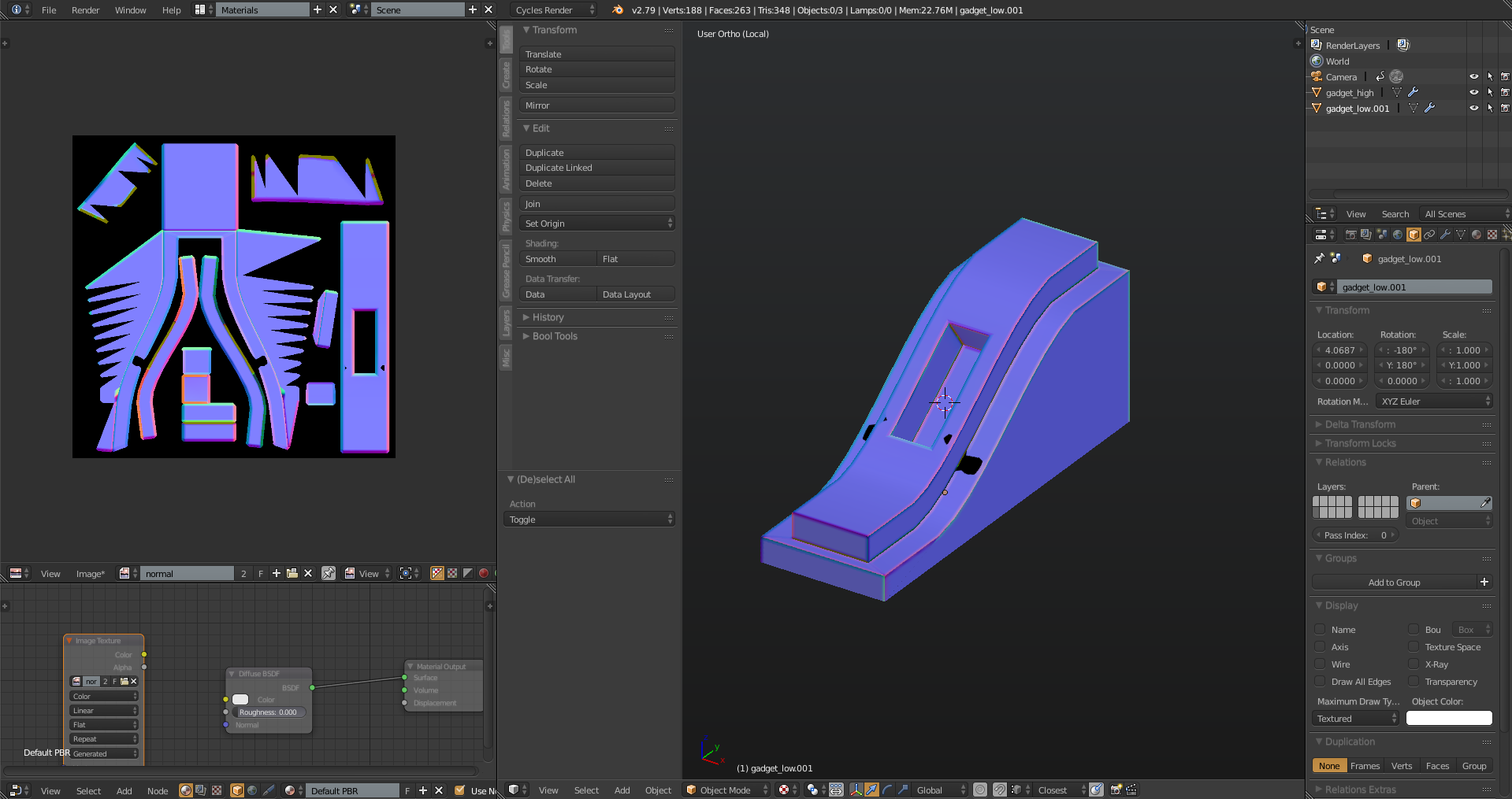 Bake a Hard Surface Normal Map - CG Cookie