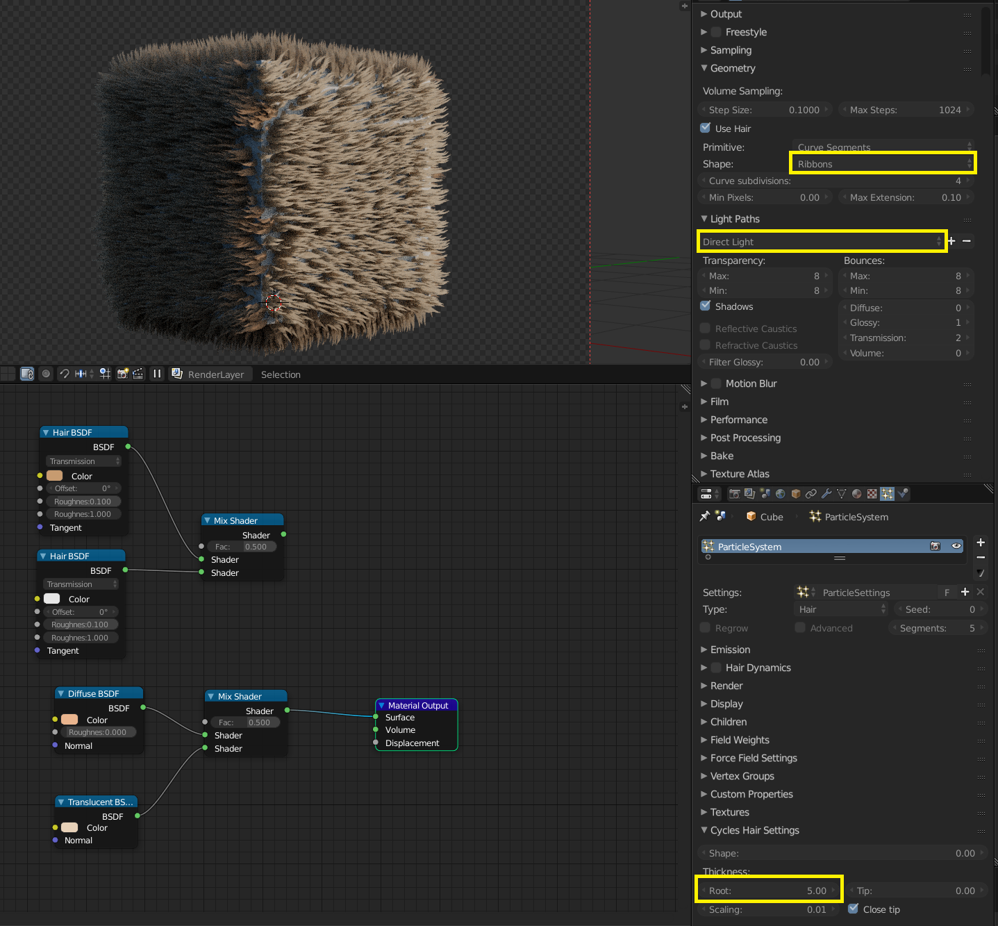 Fur - Blender strand render, but in Cycles? - CG Cookie