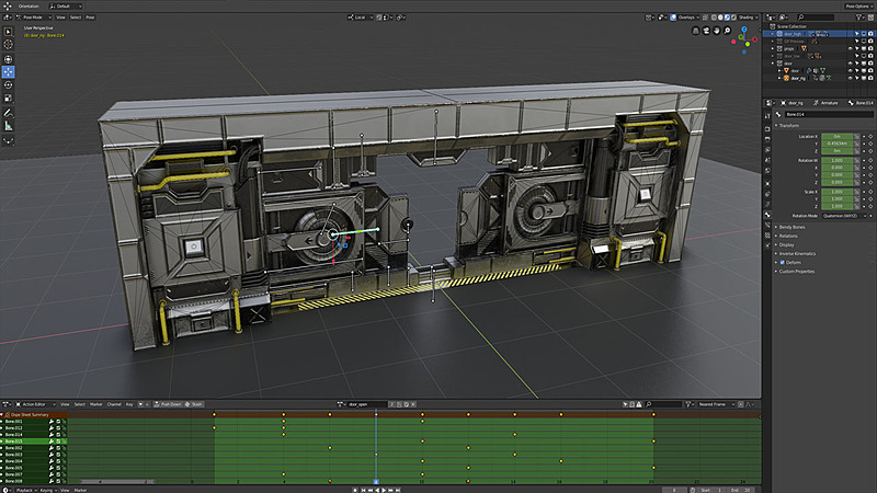 Animated Sci-Fi Game Environment Creation in Blender 2 8
