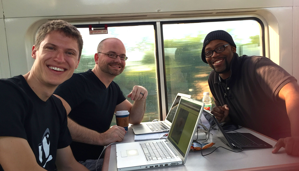 team-on-train