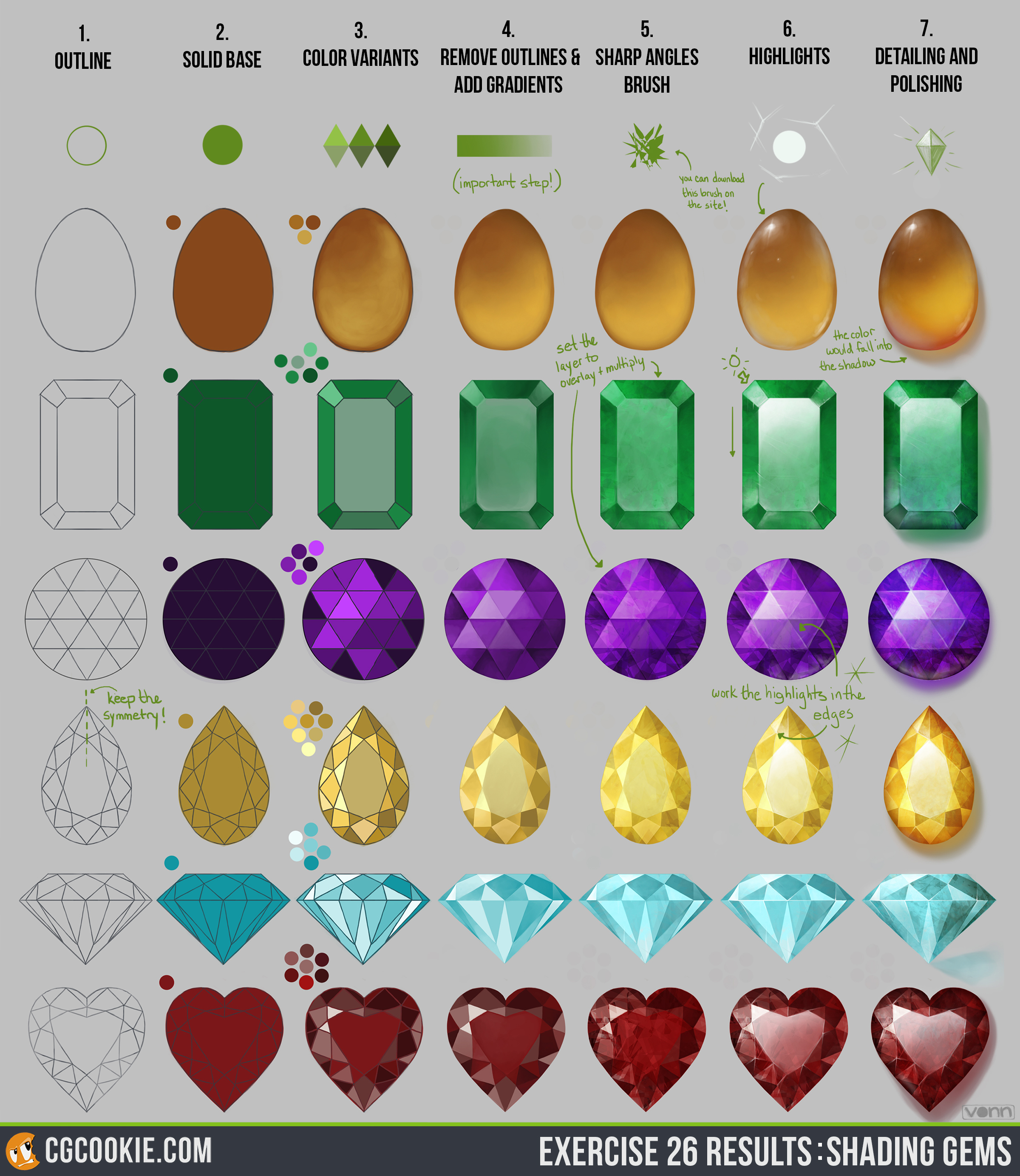 Shading gems cg cookie exercise26results nvjuhfo Images