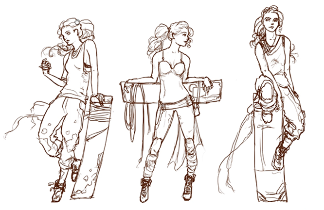 Character Design Outline : Sketching cg cookie