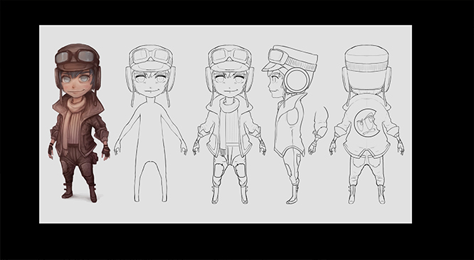 Stylized Character Turnaround Cg Cookie