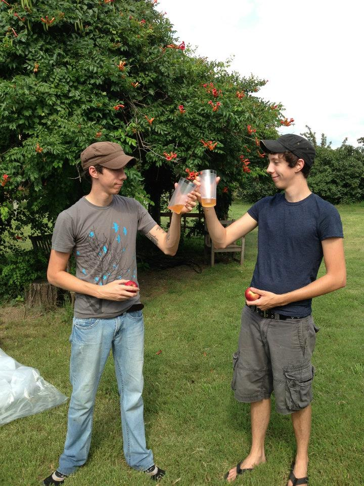 Fresh cider is the best cider. Jonathan and Pippin at the orchard.