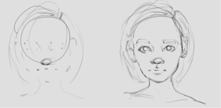 Capturing likeness is all about ratios that occur within the face. Drawing dots to delimitate the features help me to make sure the proportions are coherent, while also giving me control over how much I want the end result to be stylized by playing around with these visual markers.