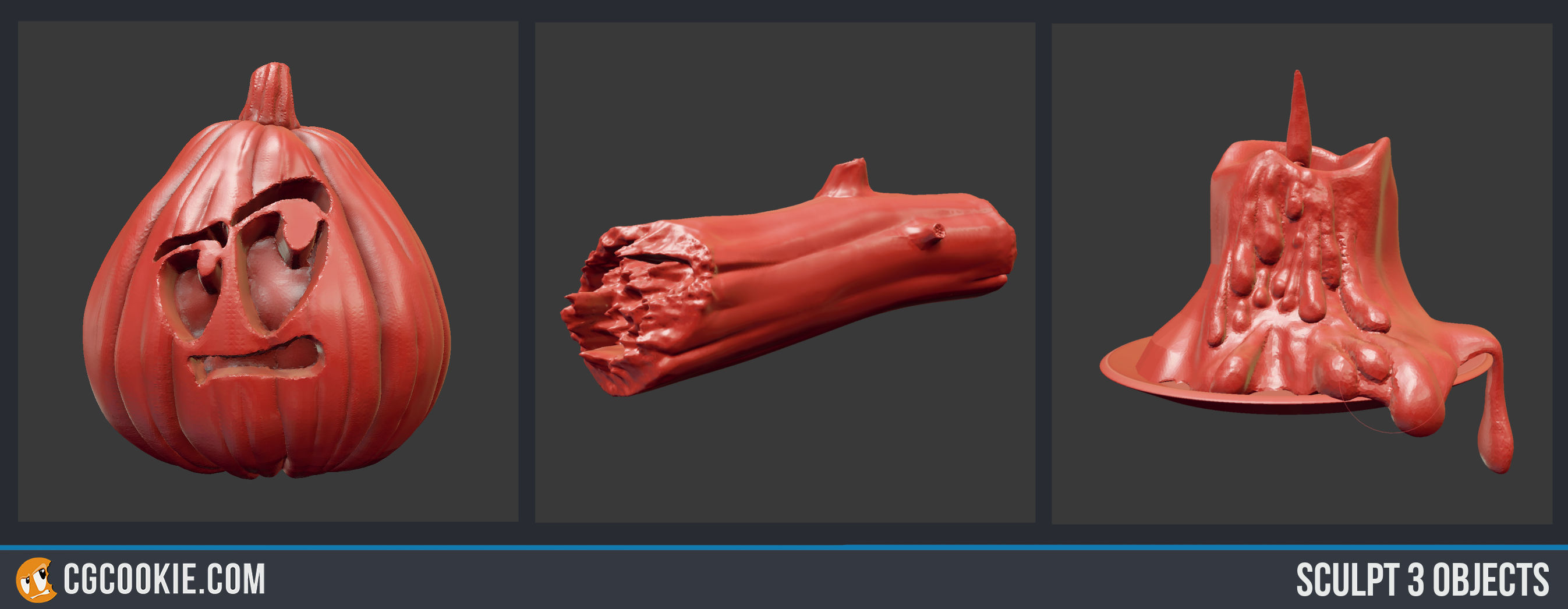 Sculpt 3 Objects - CG Cookie