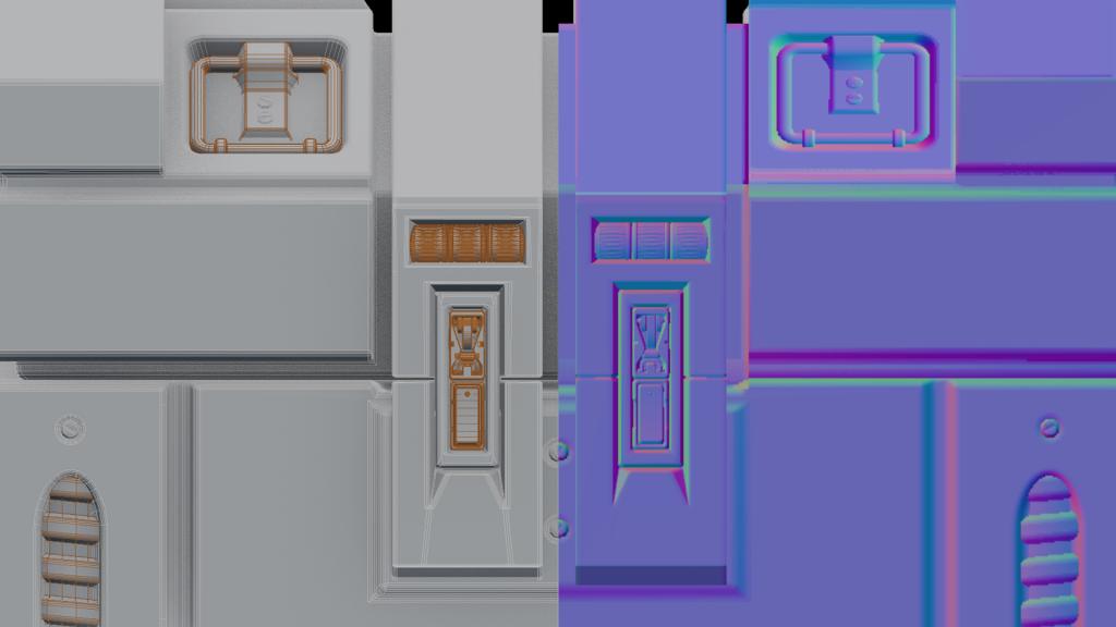modeled vs textured detail