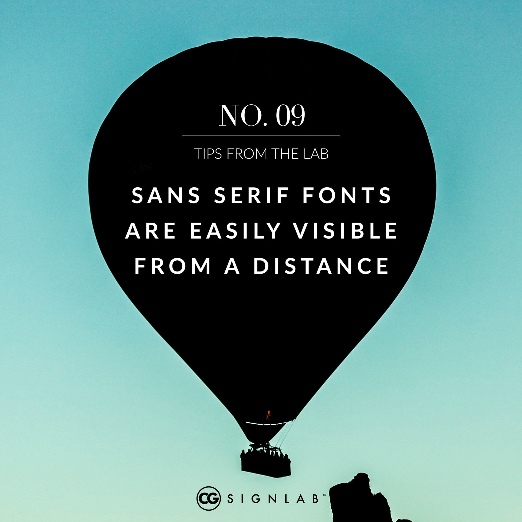 Sans Serif Fonts are Easily Visible from a Distance