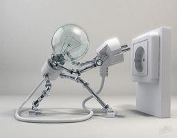 3D model Lampy the dude