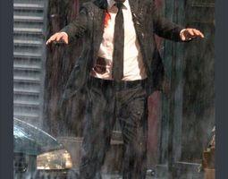 3D model Keanu rain 3