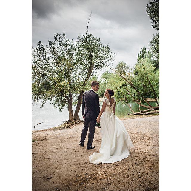 windy love dress river nature wedding photography