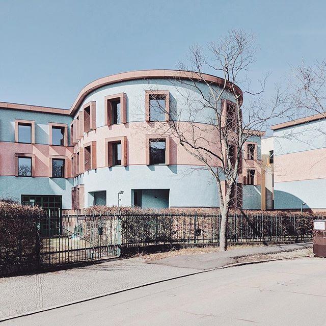 visit_berlin modernarchitecture jamesstirling accidentallywesanderson