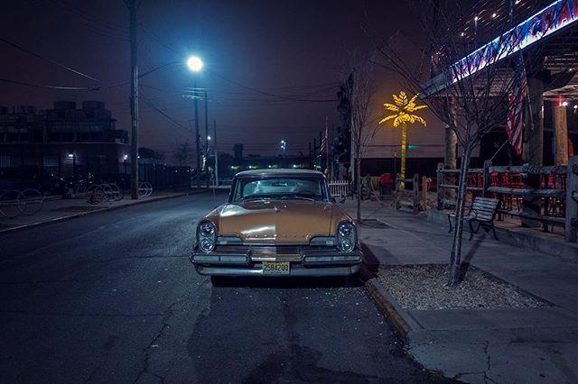 nightscape vintagecar redhook
