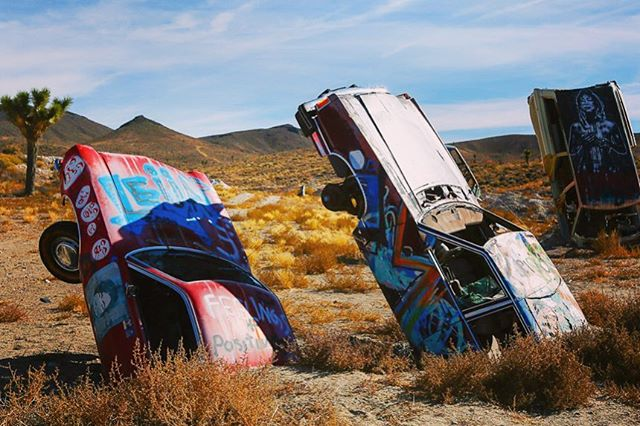 lostintime abandonedcars outlaw desert whatthehell americanwest roadtrip abandoned wildwildwest oldwest artinthedesert americana offthebeatenpath landart leftbehind miningcamp ghosttown nevada