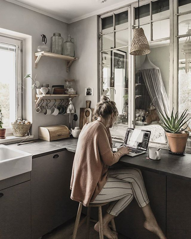 workingathome kitchen scandinavianstyle annamalmberg working