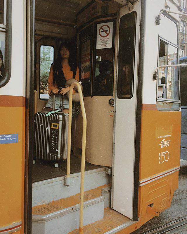 vscocam vsco traveler travel tram hungary girl budapest