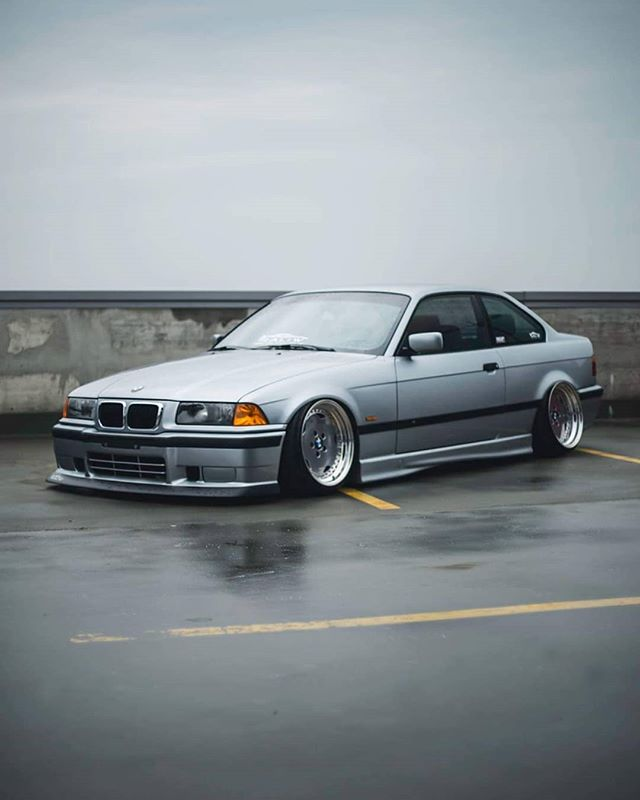 e36 low perfect slammed stance grey fitment airride bmw