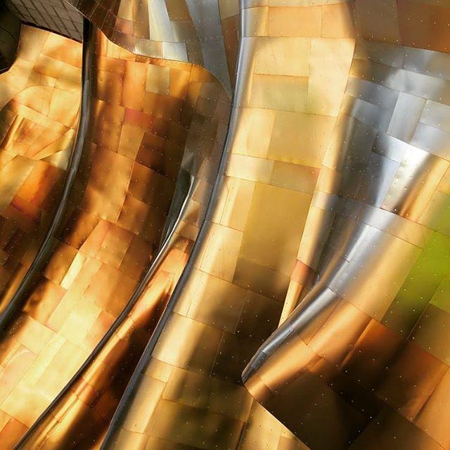 iridescent golden gehry titanium empseattle