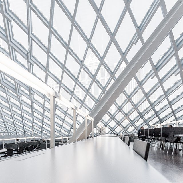 white study seattle light library foreground desks architecture