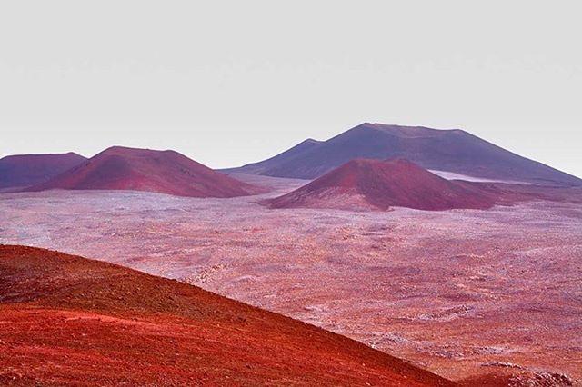 volcano red natgeo mars lunar landscape hawaii dawn