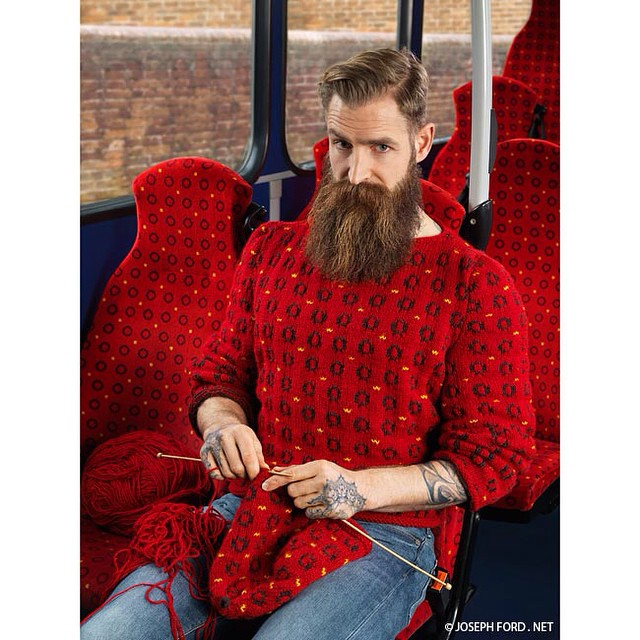 bus bearface colour silly beard knitting hipster brighton photography patterns publictransport winter red