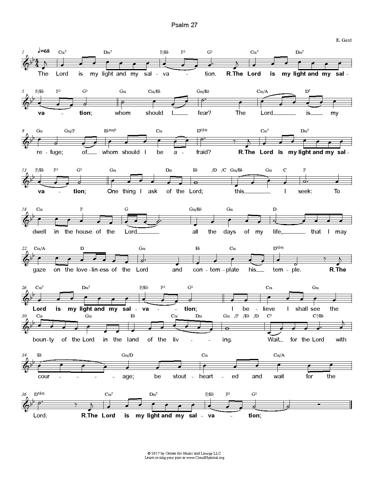Shared library cloud hymnal free share responsorial by evelyn gard with chord symbols hexwebz Gallery