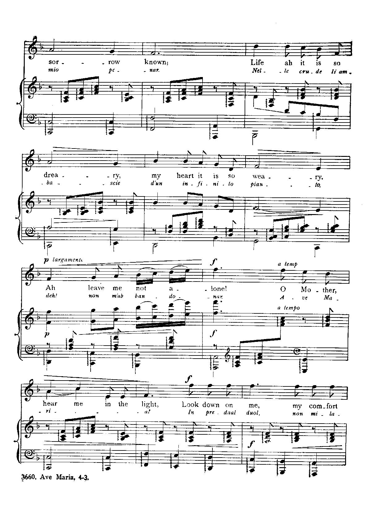 Ave Maria by Mascagni | Cloud Hymnal