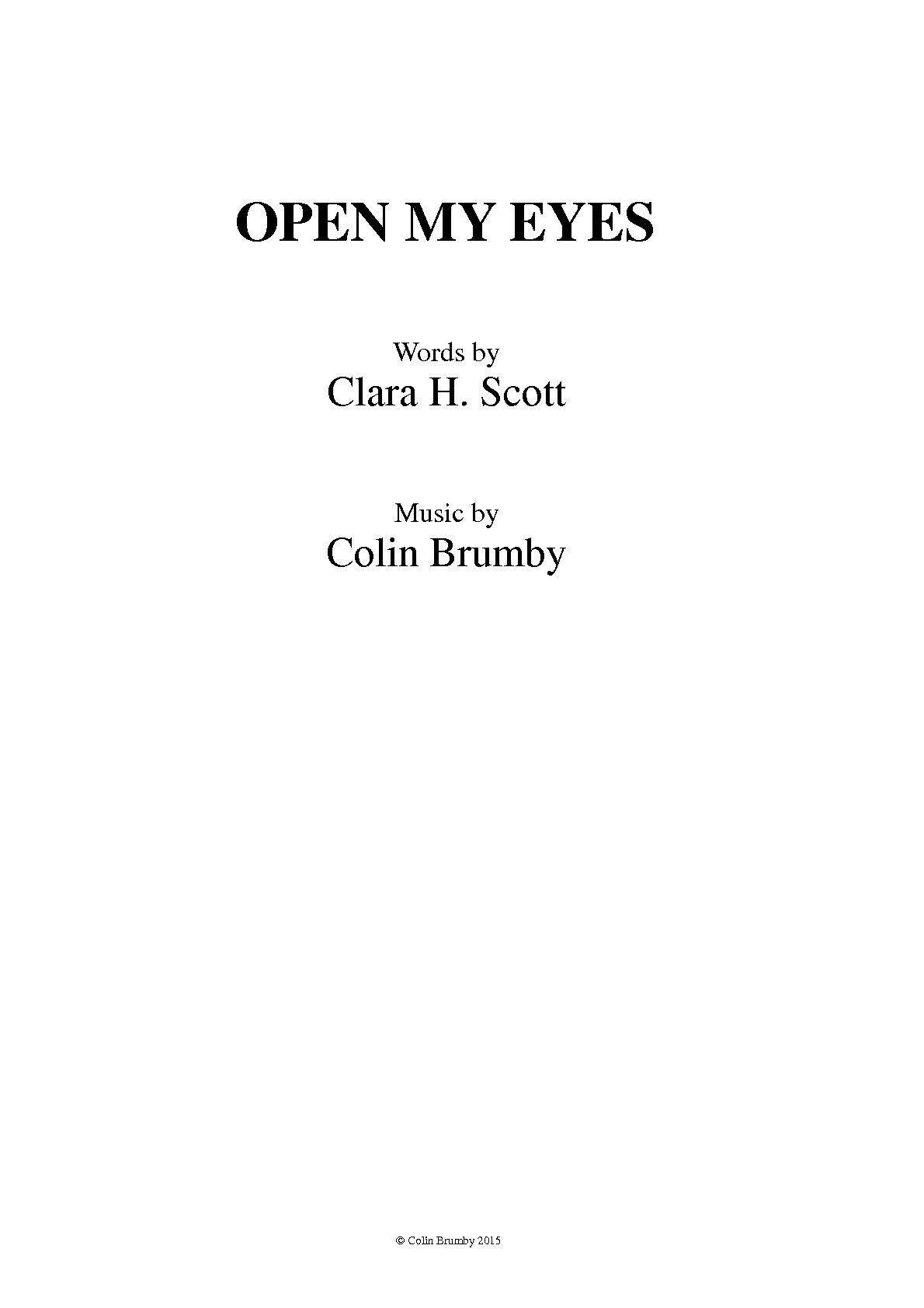 open my eyes lord chords pdf