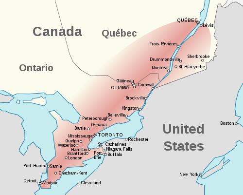 Canada eastern population
