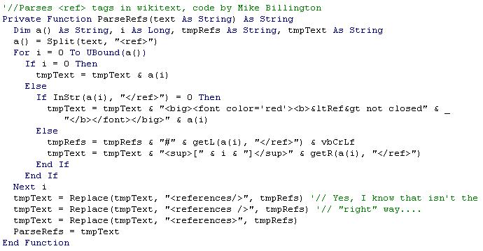 VB code