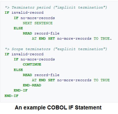 cobol statement